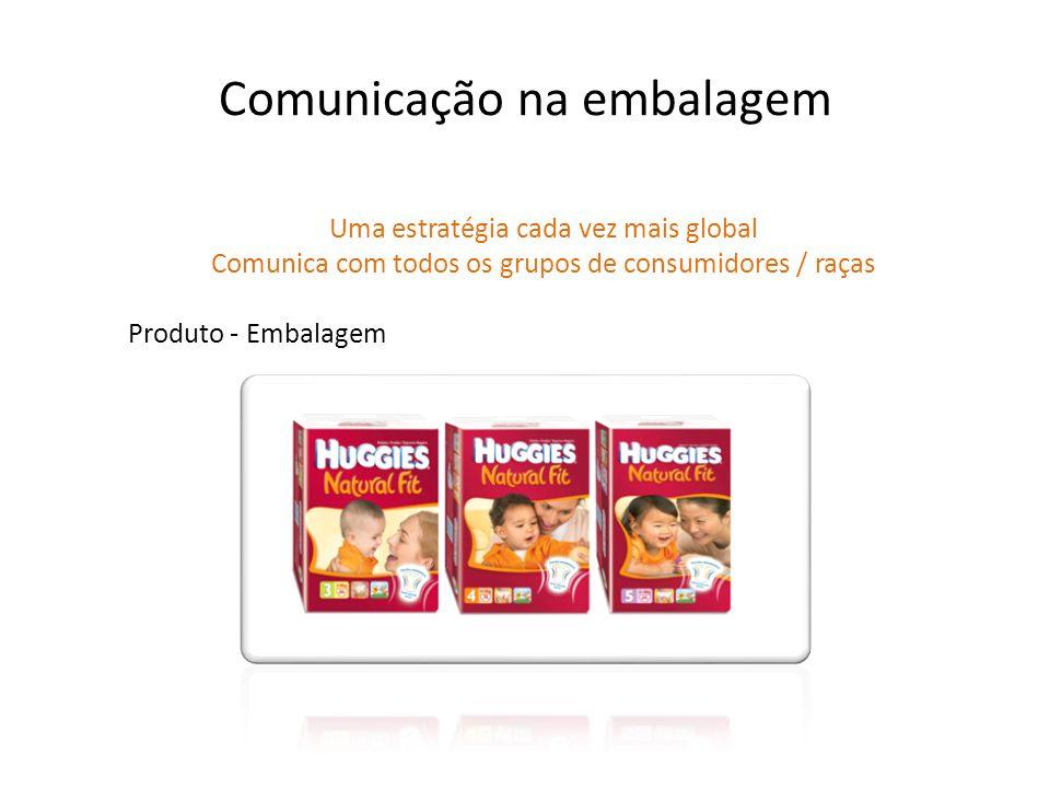 Produto - Embalagem Comunicação na embalagem Uma estratégia cada vez mais global Comunica com todos os grupos de consumidores / raças