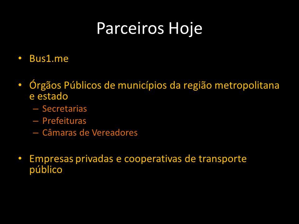 Parceiros Hoje Bus1.me Órgãos Públicos de municípios da região metropolitana e estado – Secretarias – Prefeituras – Câmaras de Vereadores Empresas pri