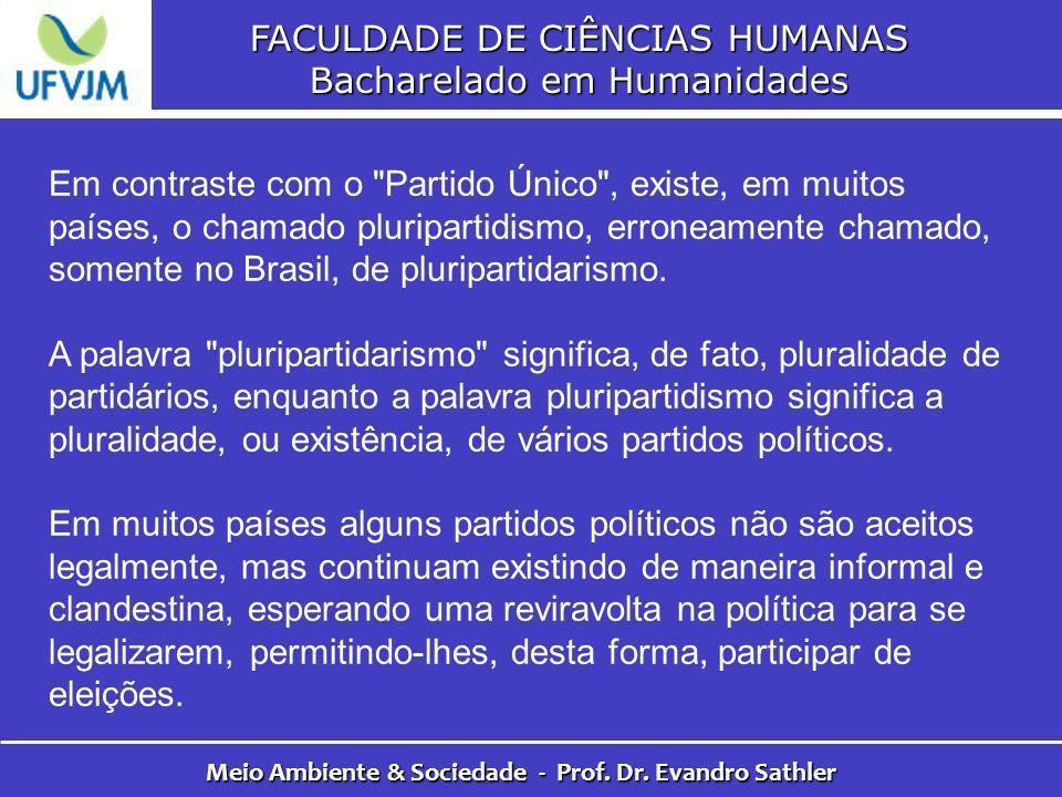 FACULDADE DE CIÊNCIAS HUMANAS Bacharelado em Humanidades Meio Ambiente & Sociedade - Prof. Dr. Evandro Sathler Em contraste com o