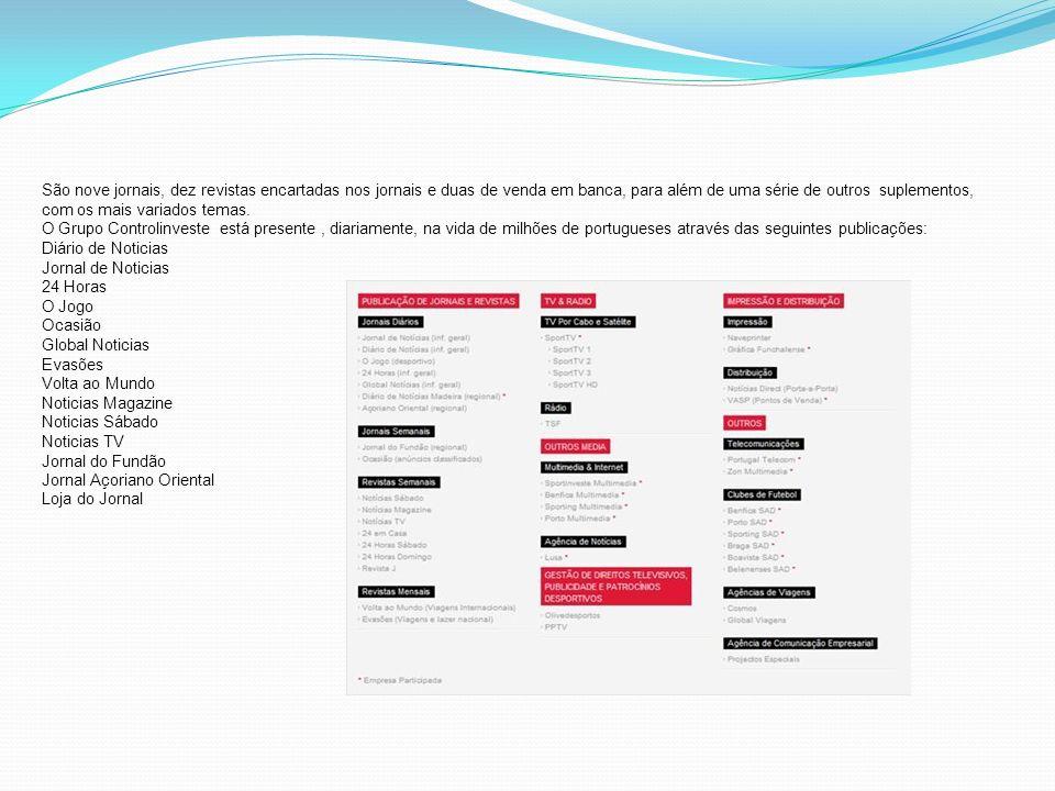 História 1984-A Controlinveste tem a sua origem na Olivedesportos, empresa fundada por Joaquim Oliveira, ainda hoje é um dos mais importantes activos do grupo 1994-A Controlinveste adquire o seu primeiro título de imprensa, o jornal desportivo O Jogo.