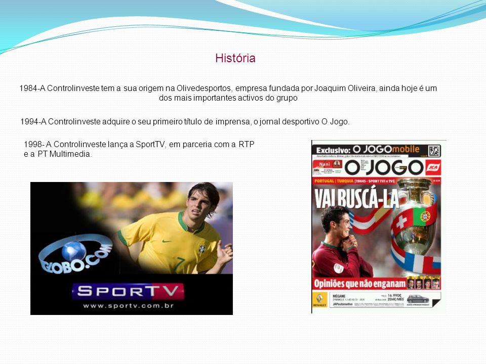 História 1984-A Controlinveste tem a sua origem na Olivedesportos, empresa fundada por Joaquim Oliveira, ainda hoje é um dos mais importantes activos