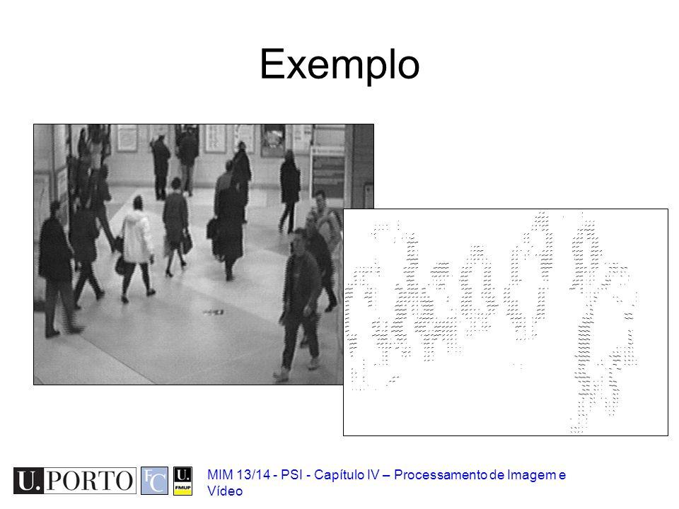 MIM 13/14 - PSI - Capítulo IV – Processamento de Imagem e Vídeo Exemplo