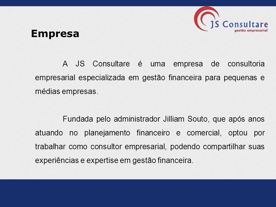 Empresa A JS Consultare é uma empresa de consultoria empresarial especializada em gestão financeira para pequenas e médias empresas. Fundada pelo admi