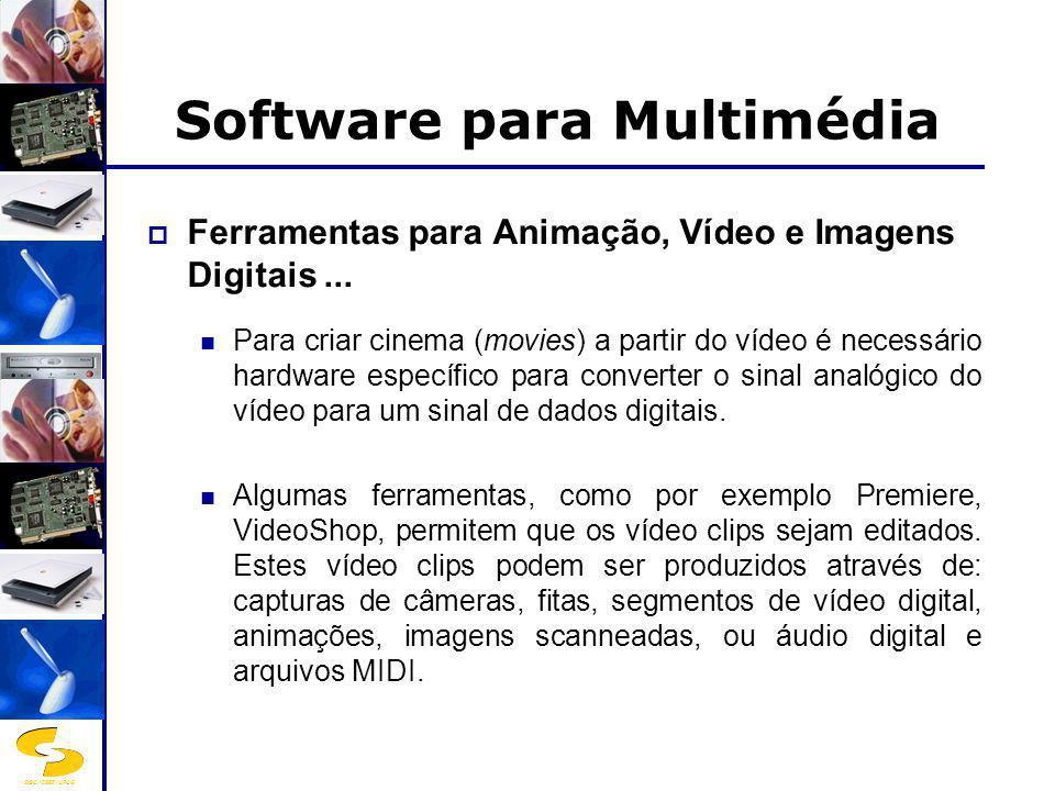 DSC/CEEI/UFCG Software para Multimédia Ferramentas para Animação, Vídeo e Imagens Digitais... Para criar cinema (movies) a partir do vídeo é necessári