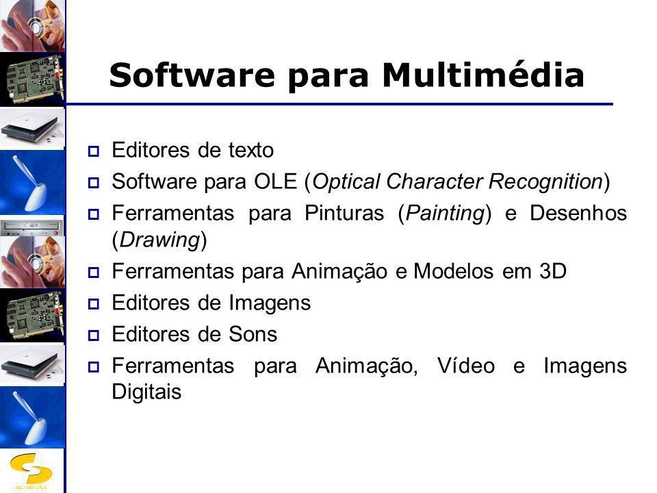 DSC/CEEI/UFCG Software para Multimédia Ferramentas para Pinturas (Painting) e Desenhos (Drawing) Software como o Photoshop, PicturePublisher são utilizados para a criação ou aperfeiçoamento de imagens do tipo bitmap (também chamadas imagens matriciais).