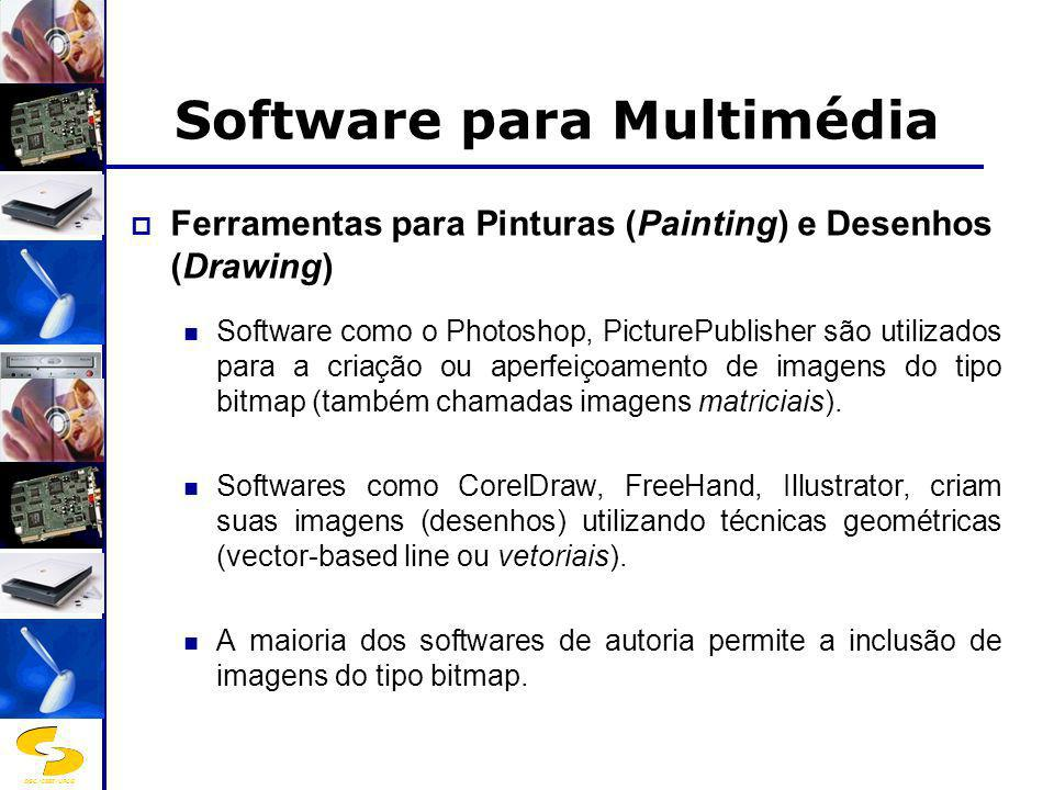 DSC/CEEI/UFCG Software para Multimédia Ferramentas para Pinturas (Painting) e Desenhos (Drawing) Software como o Photoshop, PicturePublisher são utili