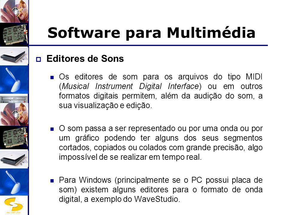 DSC/CEEI/UFCG Software para Multimédia Ferramentas para Animação, Vídeo e Imagens Digitais...