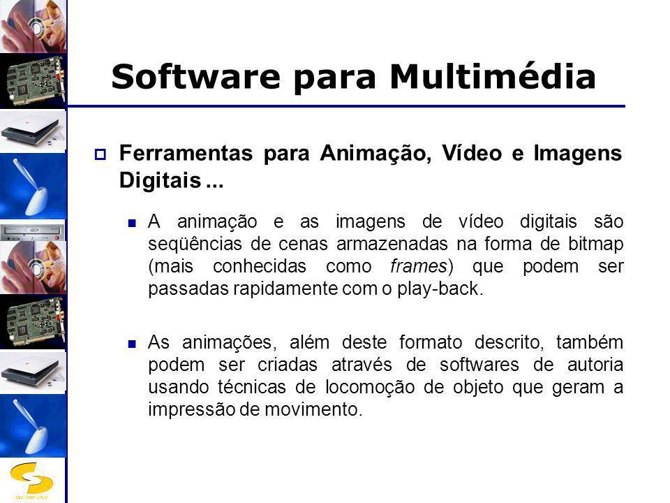 DSC/CEEI/UFCG Software para Multimédia Ferramentas para Animação, Vídeo e Imagens Digitais... A animação e as imagens de vídeo digitais são seqüências