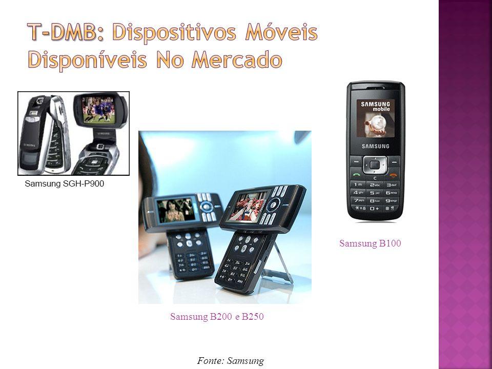 Samsung B200 e B250 Samsung B100 Fonte: Samsung