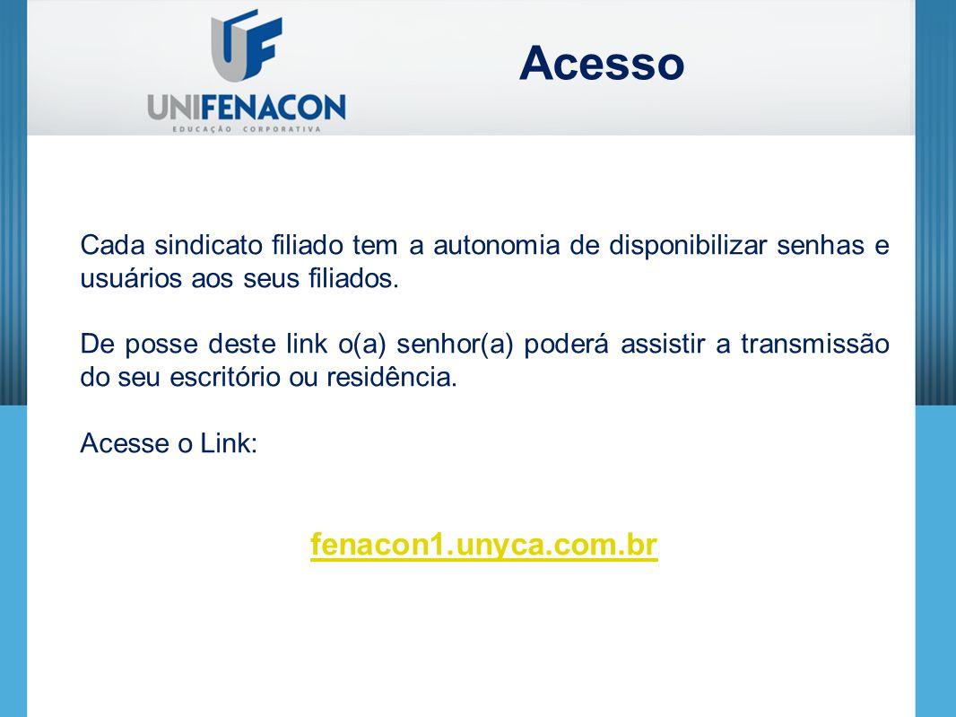 Cada sindicato filiado tem a autonomia de disponibilizar senhas e usuários aos seus filiados.