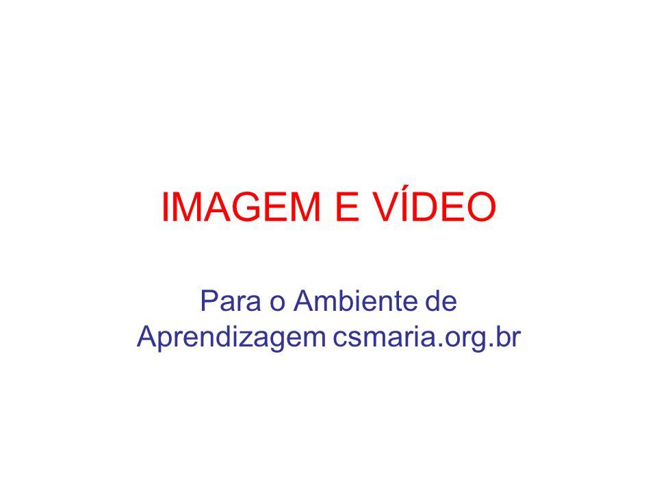 IMAGEM E VÍDEO Para o Ambiente de Aprendizagem csmaria.org.br