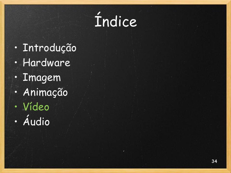 34 Índice Introdução Hardware Imagem Animação Vídeo Áudio