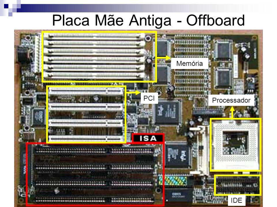 Placa Mãe Antiga - Offboard PCI Memória Processador IDE