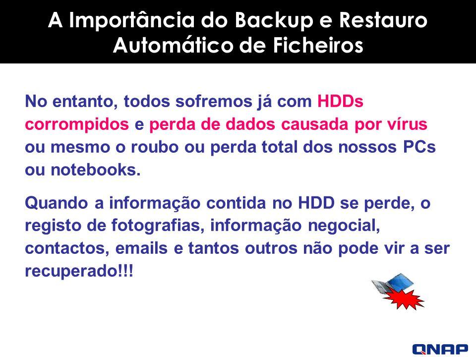 No entanto, todos sofremos já com HDDs corrompidos e perda de dados causada por vírus ou mesmo o roubo ou perda total dos nossos PCs ou notebooks.