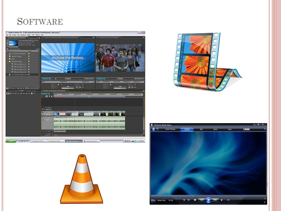 10 Software De Edição De Conversão De Reprodução De gravação em suporte óptico DescriçãoFormatosLocal Windows Movie Maker xxxxPermite importar vídeos de camaras digitais e analógicas para o computador.