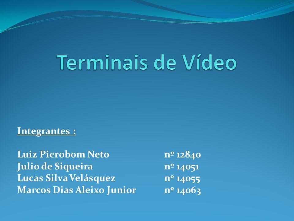 Integrantes : Luiz Pierobom Netonº 12840 Julio de Siqueiranº 14051 Lucas Silva Velásqueznº 14055 Marcos Dias Aleixo Juniornº 14063