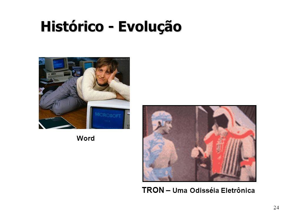 24 TRON – Uma Odisséia Eletrônica Histórico - Evolução Word