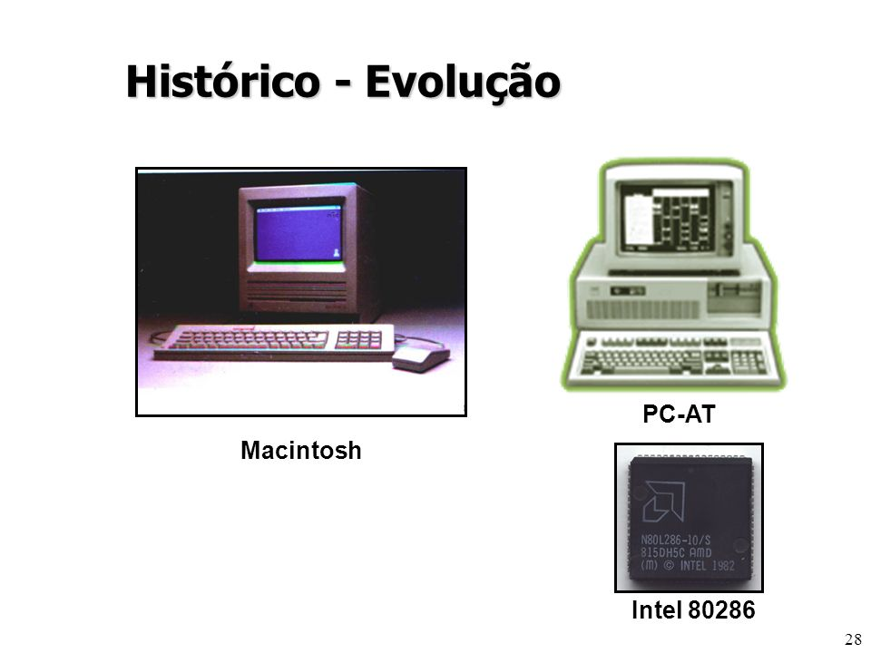 28 Intel 80286 PC-AT Histórico - Evolução Macintosh