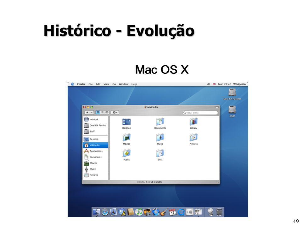 49 Histórico - Evolução Mac OS X