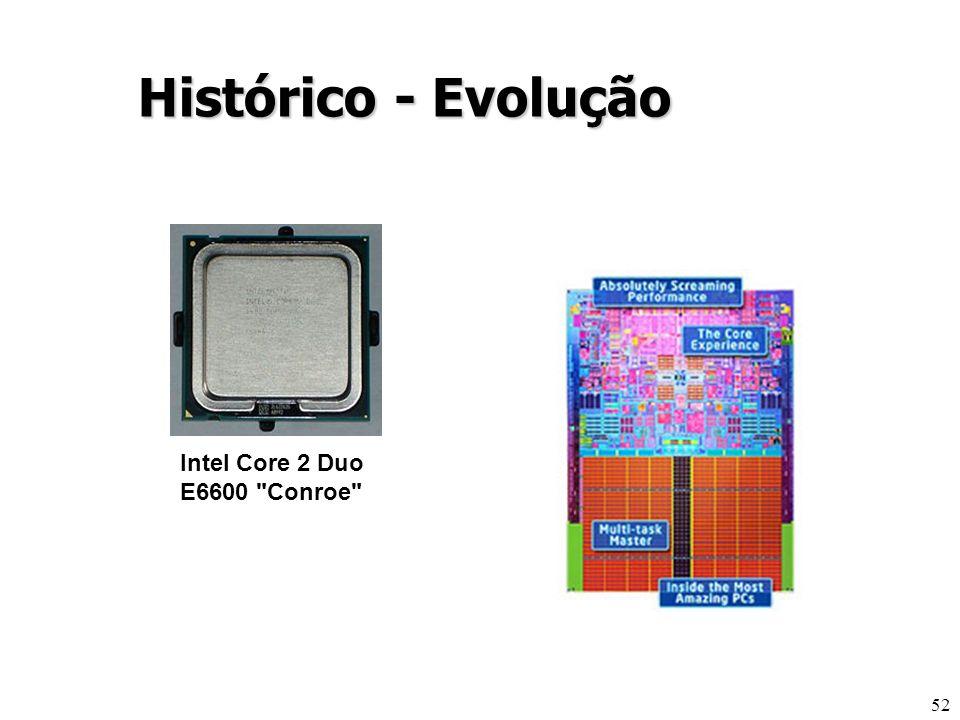 52 Histórico - Evolução Intel Core 2 Duo E6600