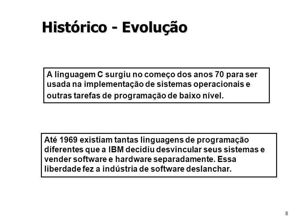 8 Até 1969 existiam tantas linguagens de programação diferentes que a IBM decidiu desvincular seus sistemas e vender software e hardware separadamente