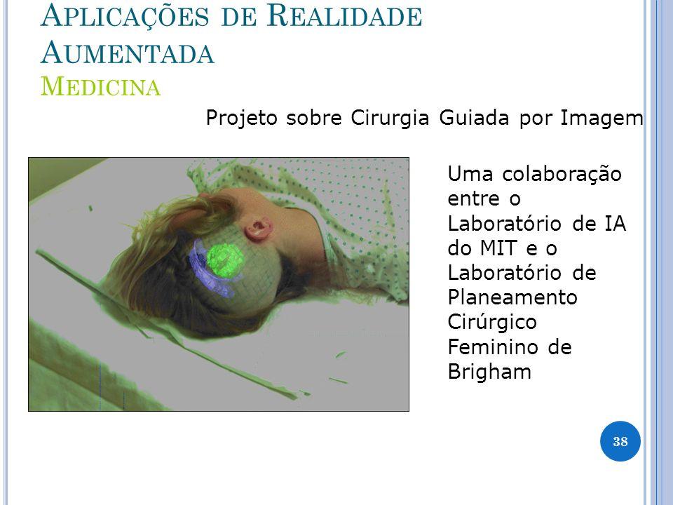 A PLICAÇÕES DE R EALIDADE A UMENTADA M EDICINA Projeto sobre Cirurgia Guiada por Imagem Uma colaboração entre o Laboratório de IA do MIT e o Laboratór