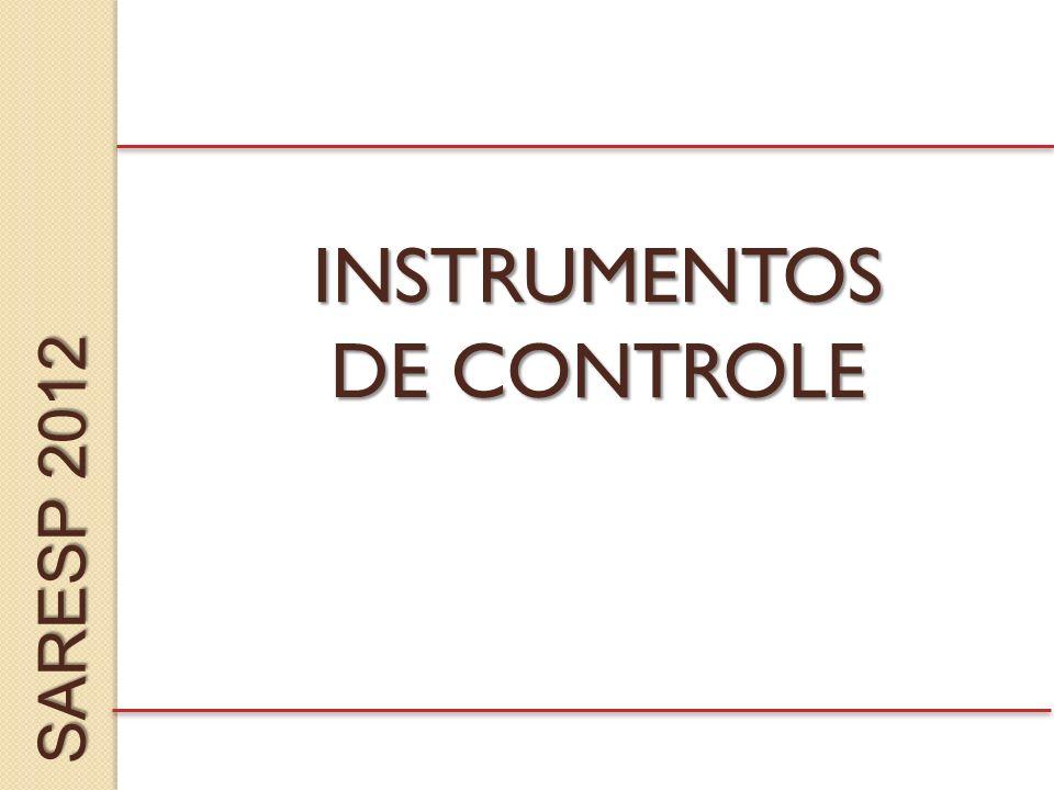 INSTRUMENTOS DE CONTROLE SARESP 2012