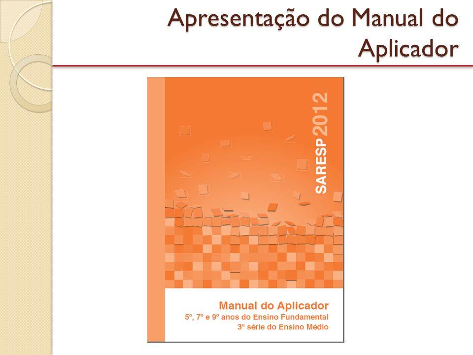 SISTEMA INTEGRADO DO SARESP – ON-LINE Cadastro e alocação de todos os colaboradores envolvidos na avaliação; Controle do recebimento e a devolução de materiais de aplicação; Registra o Plano de Aplicação das Provas – a ser elaborado pela DE/SME – detalha por ano/série, turma, o nome dos aplicadores e local de aplicação; Controla on-line a aplicação das provas (por meio de planilhas / questionários); Relatórios gerenciais para acompanhamento de todas as etapas envolvidas na avaliação; e Disponibiliza materiais para download.