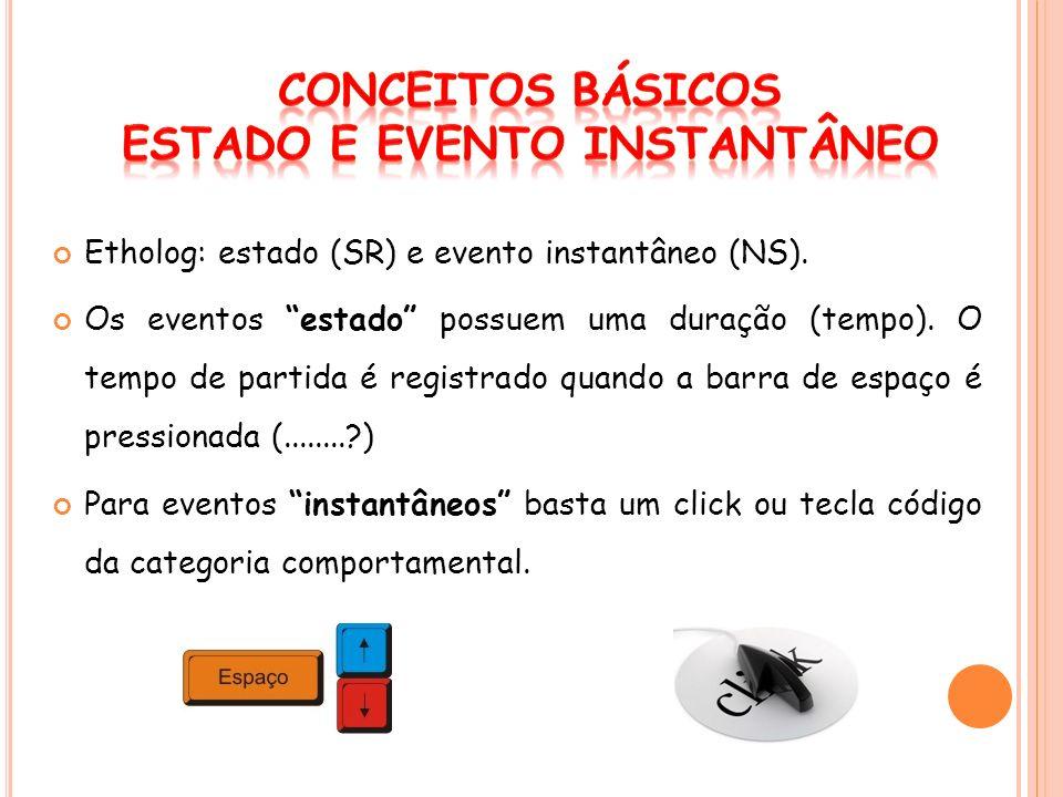 Os eventos instantâneos (NS) não possuem duração, mas os tempos de ocorrência.