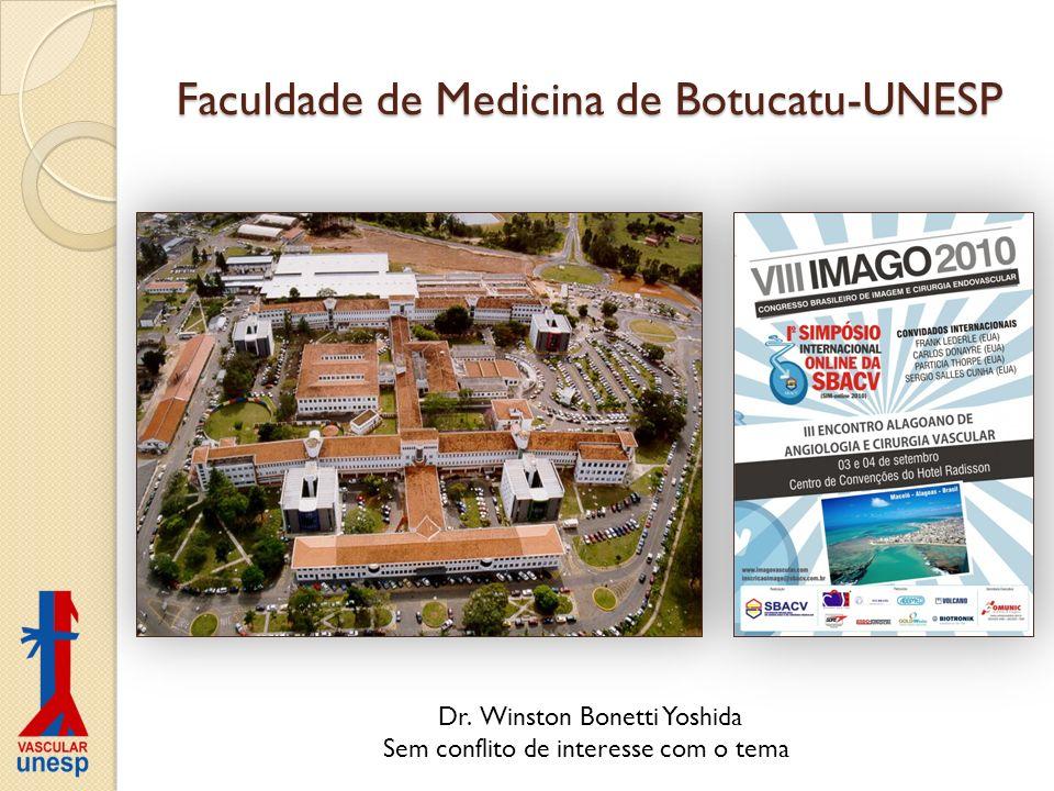 Faculdade de Medicina de Botucatu-UNESP Dr. Winston Bonetti Yoshida Sem conflito de interesse com o tema