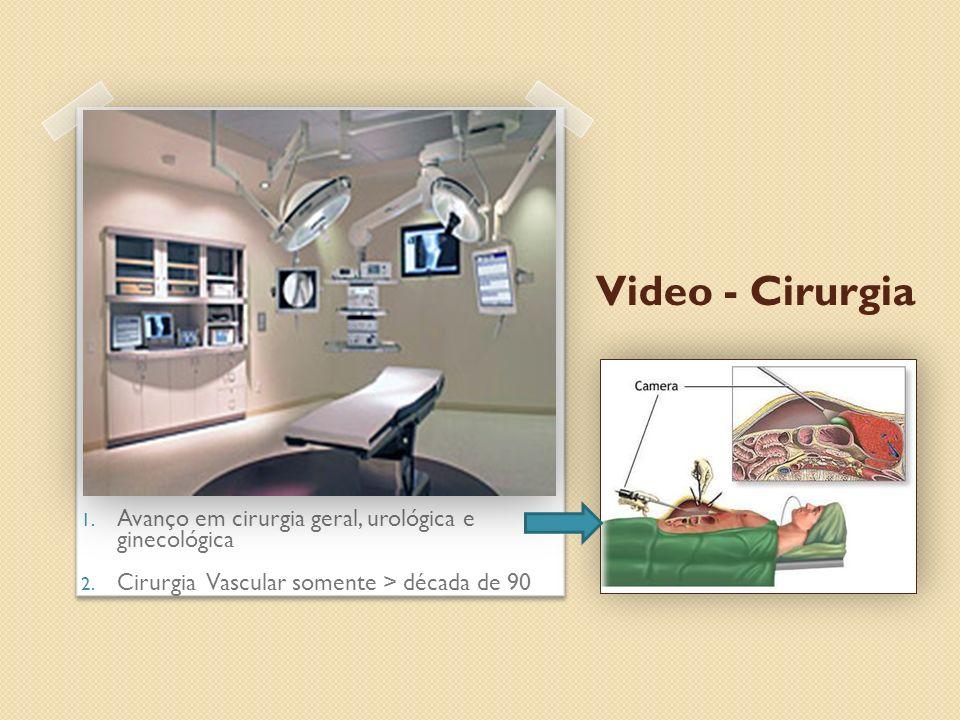 Video - Cirurgia 1. Avanço em cirurgia geral, urológica e ginecológica 2. Cirurgia Vascular somente > década de 90