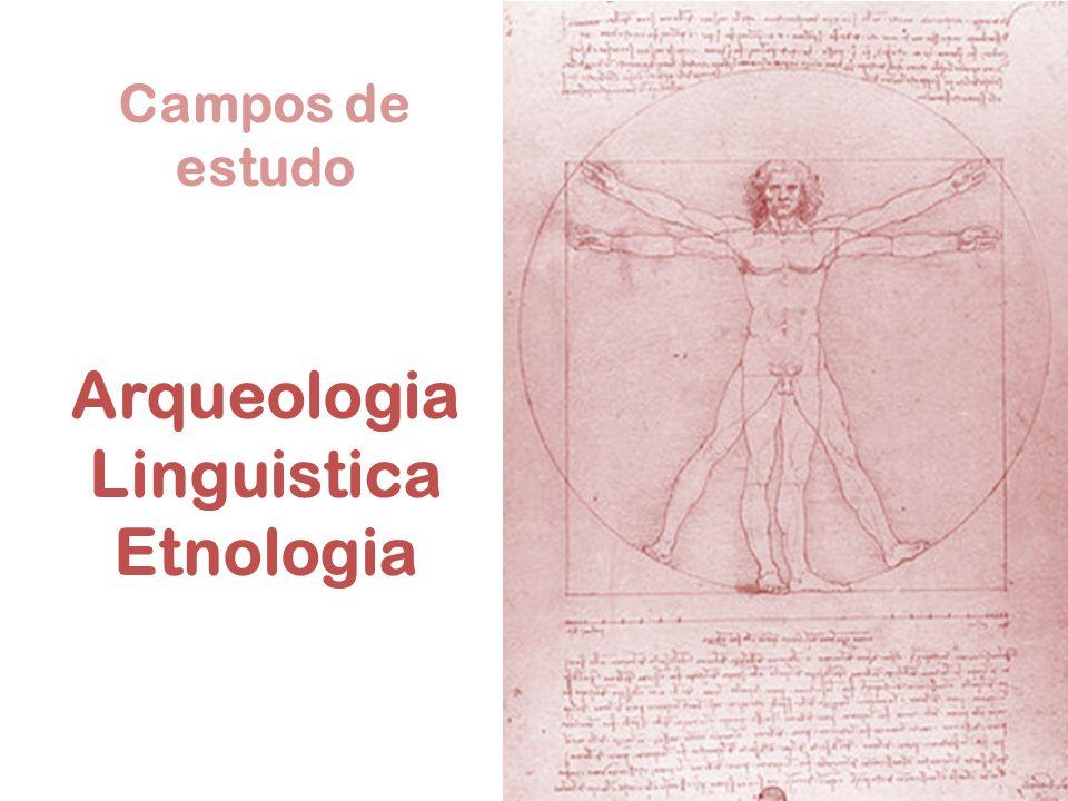 Campos de estudo Arqueologia Linguistica Etnologia