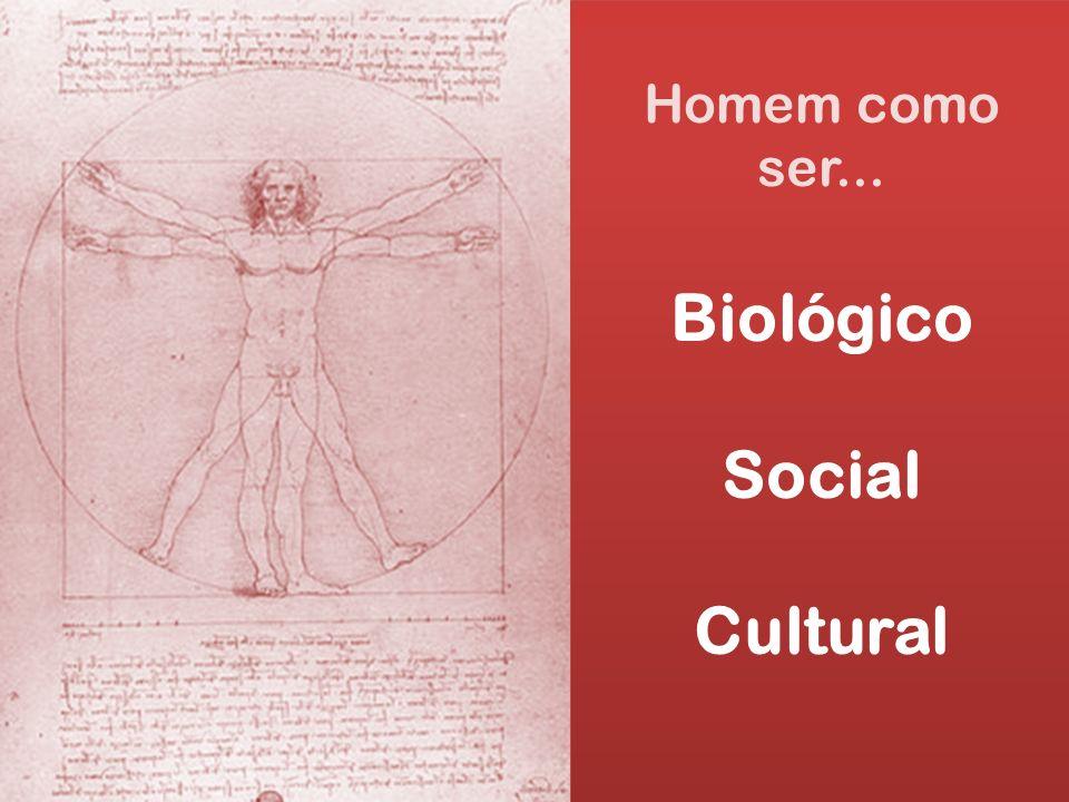 Homem como ser... Biológico Social Cultural Homem como ser... Biológico Social Cultural
