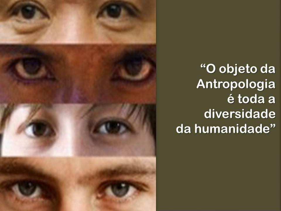 O objeto da Antropologia é toda a diversidade da humanidade
