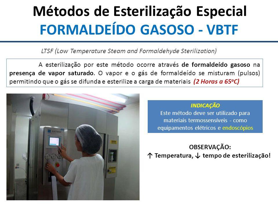 Métodos de Esterilização Especial ÓXIDO DE ETILENO Descoberto em 1859 por Wurtz, é um agente de alta eficiência no que se refere à esterilização de artigos médico-hospitalares, age a baixas temperaturas e possui alto poder de penetração, sem ser corrosivo (DEMARZO, 1997).