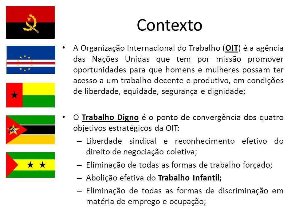 Contexto A Organização Internacional do Trabalho (OIT) é a agência das Nações Unidas que tem por missão promover oportunidades para que homens e mulhe