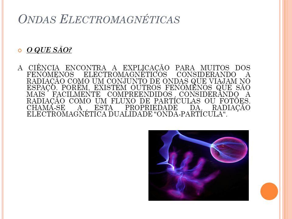 O NDAS E LECTROMAGNÉTICAS O QUE SÃO? A CIÊNCIA ENCONTRA A EXPLICAÇÃO PARA MUITOS DOS FENÓMENOS ELECTROMAGNÉTICOS CONSIDERANDO A RADIAÇÃO COMO UM CONJU