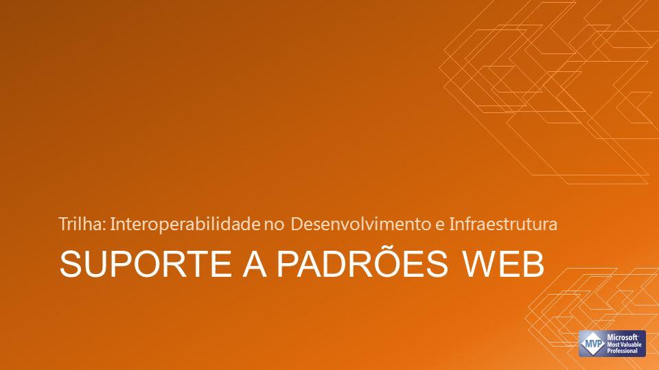 SUPORTE A PADRÕES WEB Trilha: Interoperabilidade no Desenvolvimento e Infraestrutura