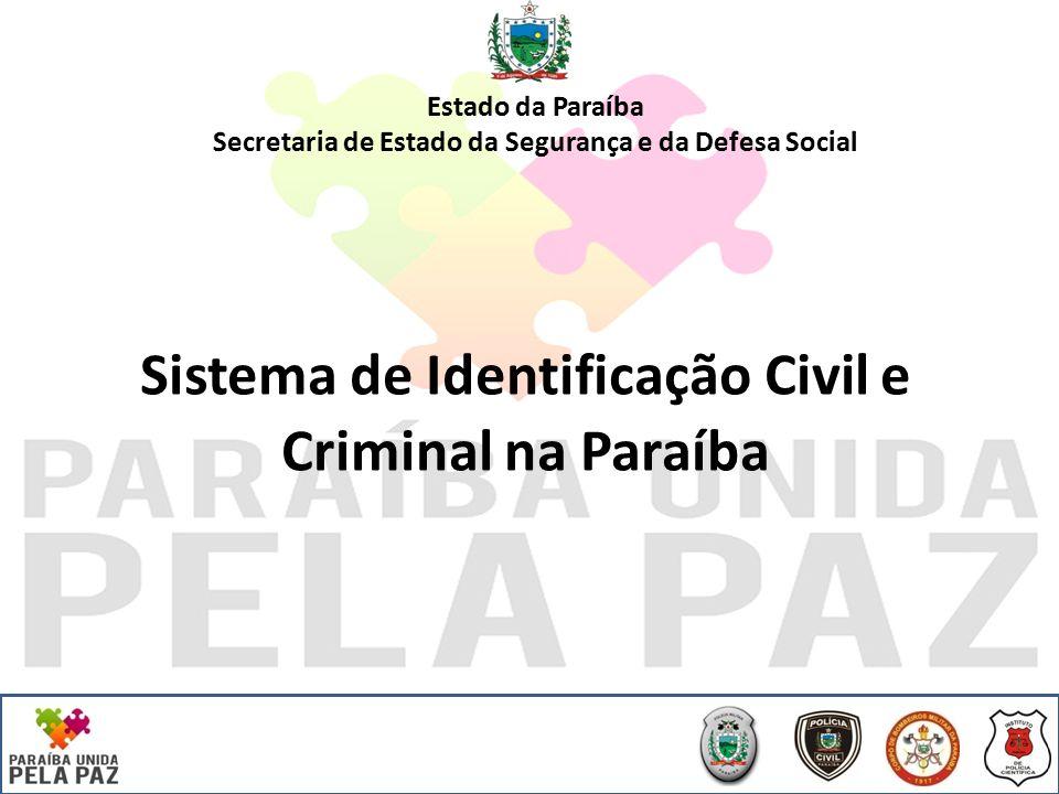 Sistema de Identificação Civil e Criminal na Paraíba