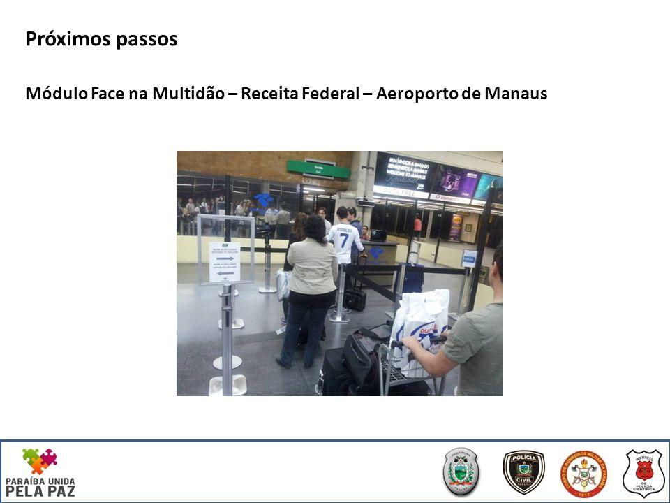 Próximos passos Módulo Face na Multidão – Receita Federal – Aeroporto de Manaus