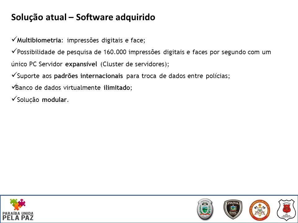 Parceiros SEDS / IPC Software Paraibano Software de reconhecimento de impressões digitais (AFIS) e faces desenvolvido na Paraíba; Parceria entre a empresa paraibana e Laboratório de Sistemas Digitais da UFPB (Universidade Federal da Paraíba); Certificado pelo FBI (Federal Bureau of Investigation).