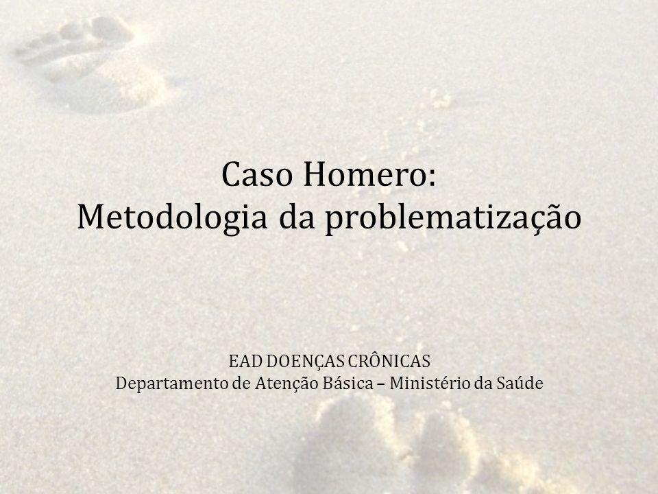 Caso Homero: Metodologia da problematização EAD DOENÇAS CRÔNICAS Departamento de Atenção Básica – Ministério da Saúde
