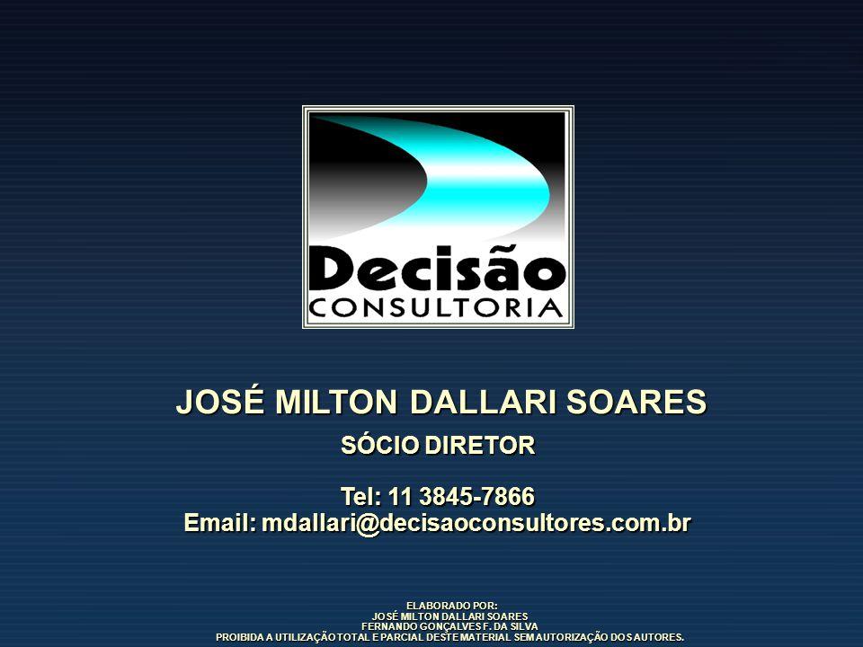 ELABORADO POR: ELABORADO POR: JOSÉ MILTON DALLARI SOARES FERNANDO GONÇALVES F. DA SILVA PROIBIDA A UTILIZAÇÃO TOTAL E PARCIAL DESTE MATERIAL SEM AUTOR