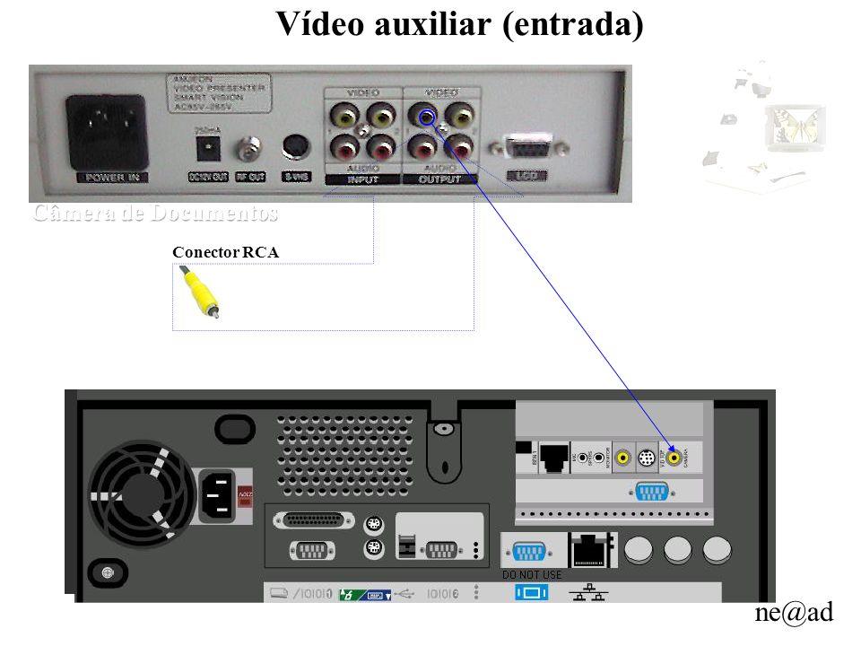 ne@ad Vídeo auxiliar (entrada) Conector RCA
