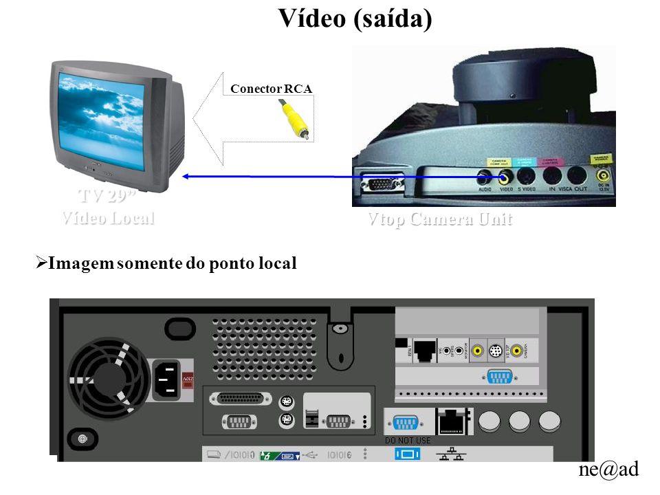 ne@ad Vídeo (saída) TV 29 Vídeo Local Imagem somente do ponto local Conector RCA