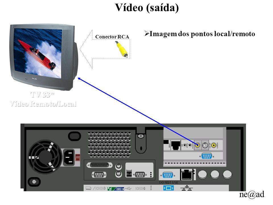 ne@ad Vídeo (saída) Imagem dos pontos local/remoto Conector RCA