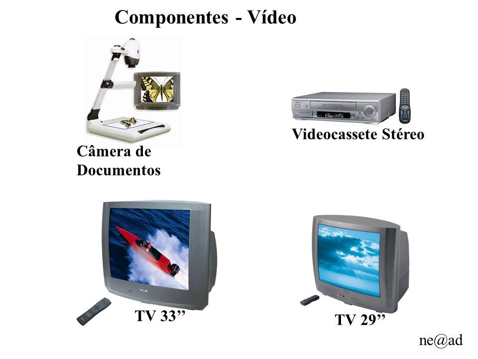 ne@ad Componentes - Vídeo Câmera de Documentos TV 33 Videocassete Stéreo TV 29
