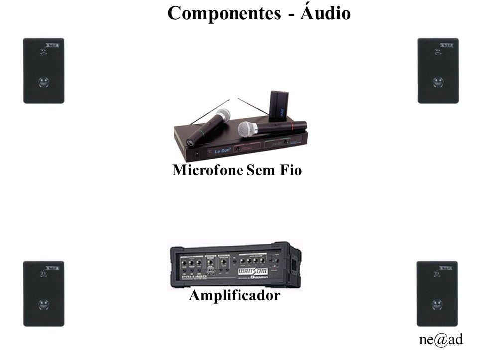 ne@ad Componentes - Áudio Microfone Sem Fio Amplificador
