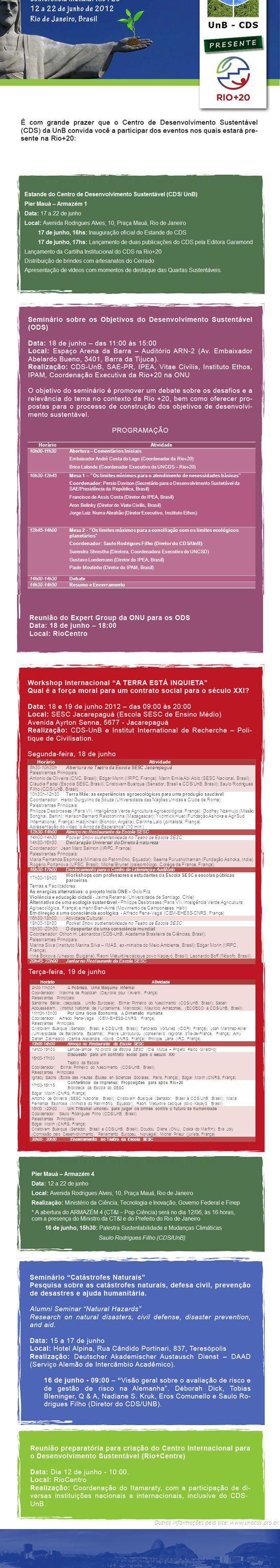 HorárioAtividade 9h00-11h00hA Pobreza, Uma Máquina Infernal Coordenador: Maxime de Rostolan (Deyrolle pour lAvenir, França) Palestrantes Principais: S