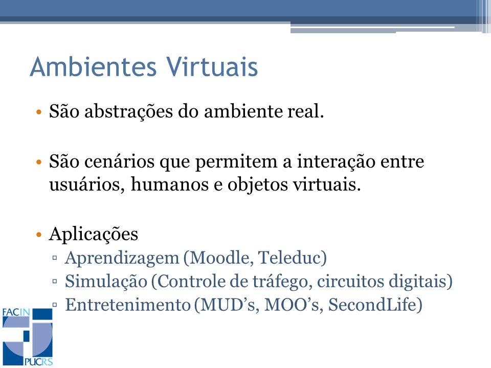 Ambientes Virtuais São abstrações do ambiente real.